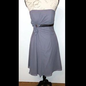 Bill Levkoff Grey/Purple Prom, dance dress size 8